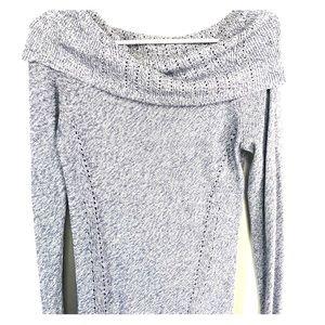 Off shoulder long sleeve sweater